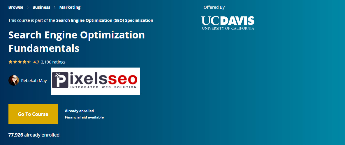 كورس سيو رقم 2 ضمن تخصص السيو بعنوان أساسيات تحسين محركات البحث