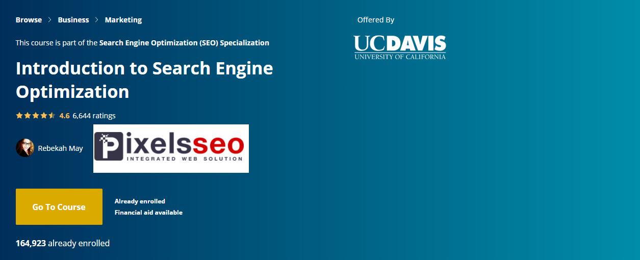 كورس سيو بعنوان مقدمة في تحسين محركات البحث- الكورس الأول في تخصص السيو على كورسيرا